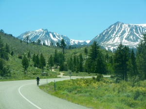 Heading back west over Tioga Pass