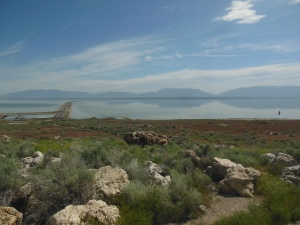 Causeway view from Antelope Island