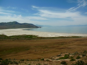 Great Salt Lake from Antelope Island, looking south east