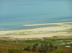Great Salt Lake, looking west