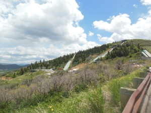 Ski jumps from a distance