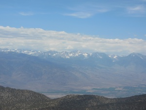 Eastern side of Sieera Nevada Mtns as seen from White Mtns