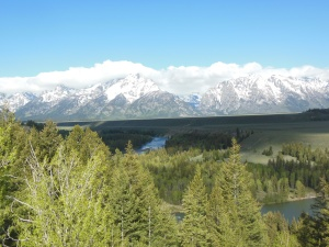 Last view of Grand Teton National Park