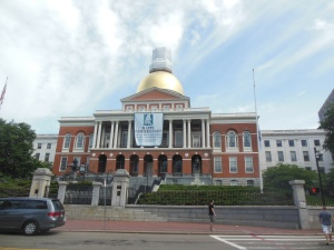 MA capitol building  in Boston