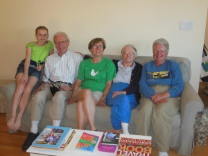 Caroline, Harold, Catherine, Pat and Chris. RIchard and Amelia were unable to be in the picture.