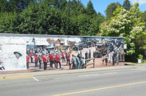 Part of World in Motion mural in Chemainus