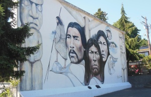 Native Heritage mural in Chemainus