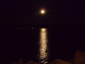 Full moon over Georgia Strait