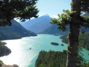 Diablo Lake along North Cascades scenic highway