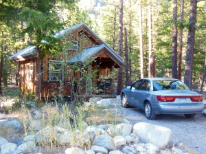 Our cabin in Mazama