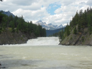 Bow River falls in Banff
