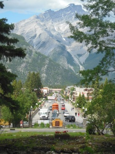 View of downtown Banff
