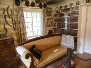 Interior of Morse home showing Princeton memorabilia