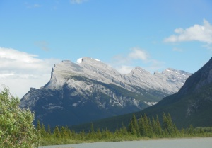 Mount Rundle and Vermillion Lake