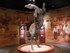 Glenbow museum-barbed wire horse