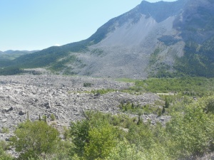 Frank slide at Turtle Mtn in Crowsnest area