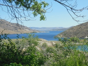 Initial view of Lake Roosevelt behind Grand Coulee Dam.