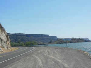 View of Banks Lake and coulee around edge