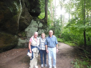 Walking the ledges in Cuyahoga National Park