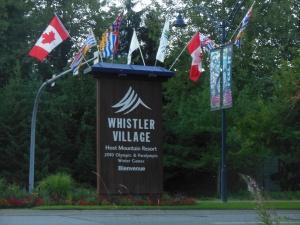 Whistler Village entrance