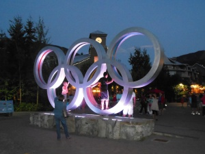 Olympic Rings at dusk