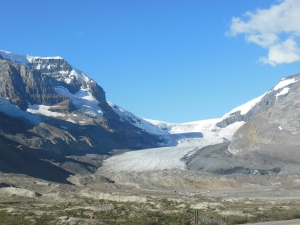 Columbia Icefield from where it ended 125 years ago