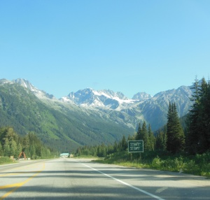 Rogers Pass now heading east.