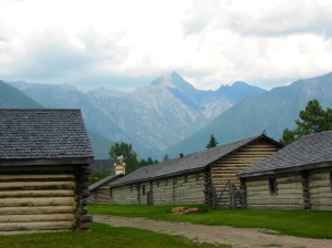 Garrison buildings at Fort Steele