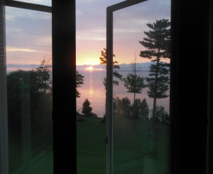 Sunrise from our room at La Rose Wellness Retreat