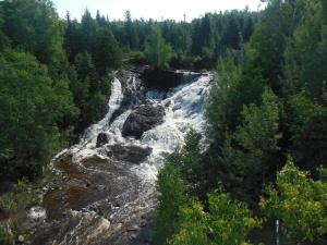 Eagle River falls along Lake Superior coast