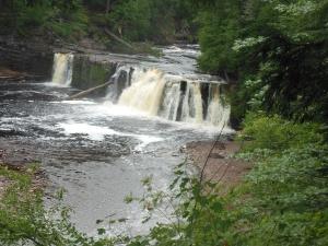 Manabezho Falls, Presque Isle RIver, Porcupines Mtns
