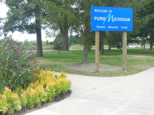 """The """"Pure Michigan"""" theme appears to be the main travel slogan."""