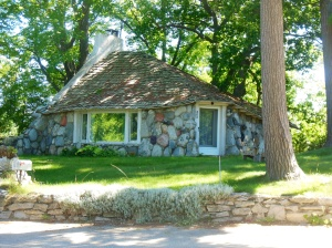 Earl Young designed home in Charlevoix