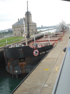Freighter in the locks