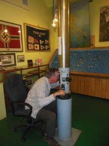 Submarine periscope at Marquette Maritime Museum