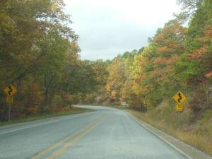 Driving through Arkansas Ozarks