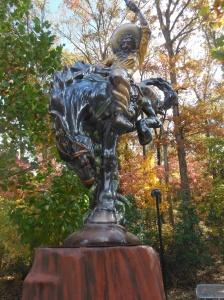 Outdoor sculpture at Crystal Bridges