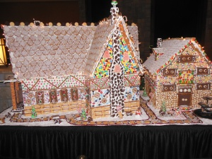 One of the gingerbread house  scenes