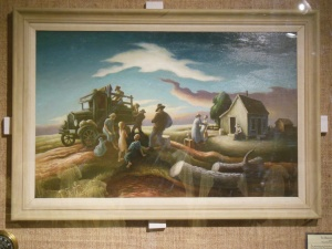Benton's painting for Grapes of Wrath