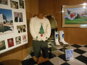One of Andy Williams sweaters-he performed in Branson until  his  death in Sept .  2012