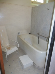 One of the soaking tubs
