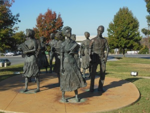Sculpture of the Little Rock Nine