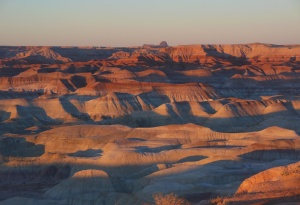 Sunset at Little Painted Desert