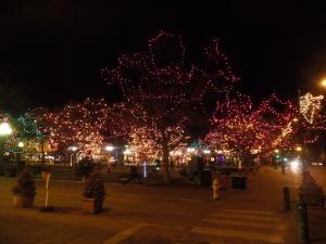 Santa Fe Plaza lights