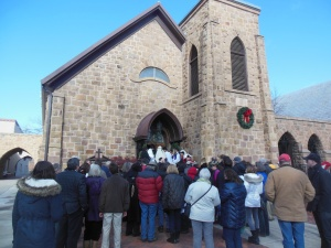 Las Posadas at the Episcopal Church of the Holy Faith