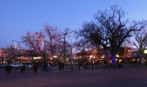 Plaza at dusk