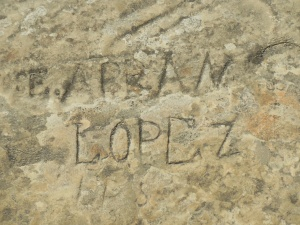 One of the inscriptions at Inspiration Rock