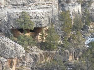 Walnut canyon dwellings