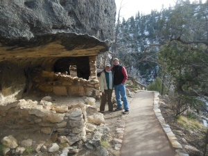 Lou and Chris at cliff dwellings