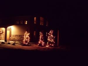 Christmas lights at Lou and Joyce home
